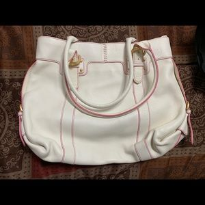 White with pink stitching Dooney and Bourke Bag